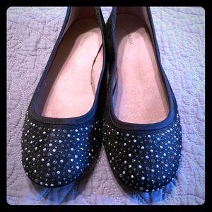 Black rhinestone shimmery shoes